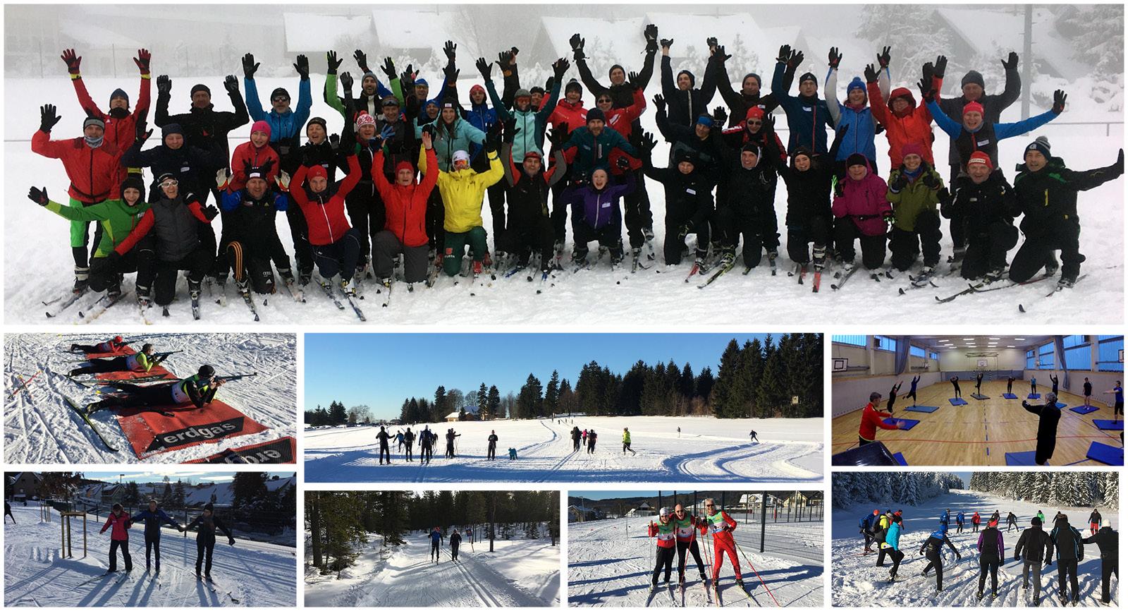 Collage Skilanglauf Oberhof nordisch aktiv